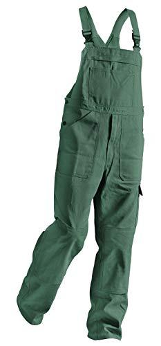 KÜBLER QUALITY DRESS Arbeitslatzhose grün, Größe 24, Herren-Arbeitslatzhose aus Baumwolle, Arbeitslatzhose mit Knieschutztaschen nach EN 14404, bequeme Arbeitslatzhose von KÜBLER Workwear