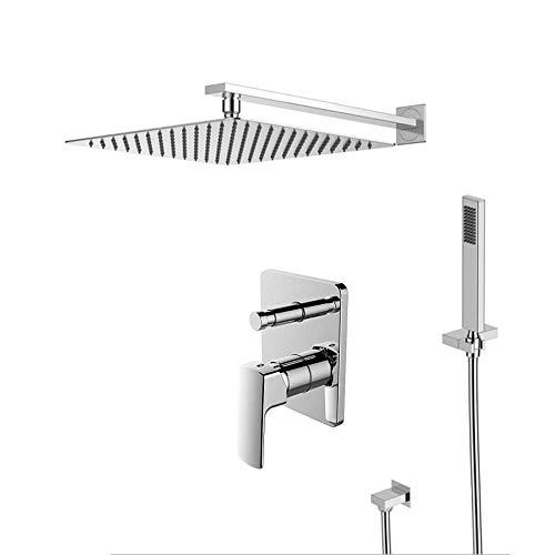 ShiSyan Ducha de mano Baño Ducha Sistema de grifo, grifo de la ducha de alta presión con ducha de lluvia cabeza - Fácil Instalación - Baño lluvia mezclador de la ducha Conjunto de Conjunto de techo mo