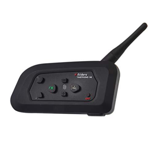 QIAOZHOO V4C 1200m Leben Wasserdicht Windabweisend Bluetooth Interfon Schiedsrichter Headsets mit Sport Armband, Max Support: Vier Anwender unterstützt FM