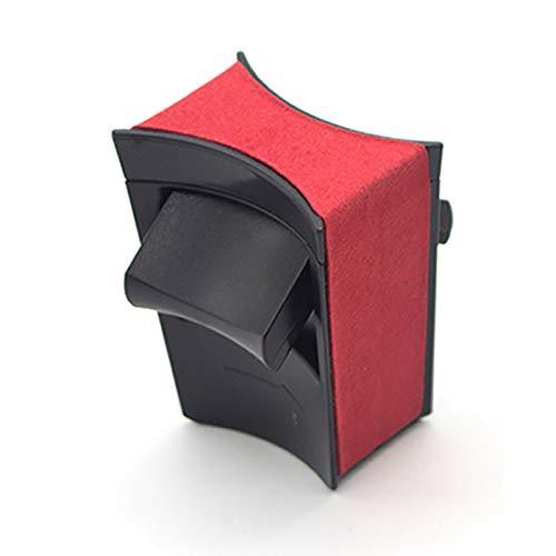 Jaimenalin Limitador de Portavasos de Gamuza de Coche para Model 3 y 2021 Accesorios Caja de Almacenamiento de InsercióN de Soporte de Agua de Consola Central, Rojo