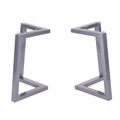 Gambe Mobili 2Pcs Mobili (H45cm XW72cm) Rustico Decory Triangolo Forma Tavolo, Heavy Duty Metal Scrivania, Tavolo da pranzo, Industrial Modern (colore : Argento, Dimensioni: 45 * 72cm)
