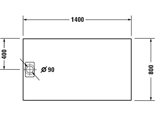 Duravit Duschwanne Stonetto 1400x800mm Rechteck, Beton, 720217180000000