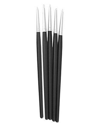 Runfon Neu 5Pcs Silikonpinsel Gummi-Pinsel Clay Shaper Modellierwerkzeug Pinselset 100% Neu