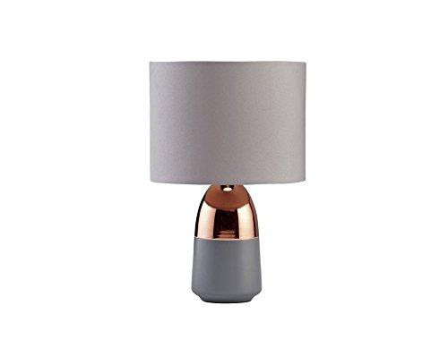 Delex® Elegant Design Touch Table Lamp -Grey & Copper