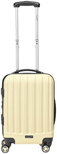Packenger Handgepäckkoffer Bordcase – Velvet – (M), Cafe-au-lait, 4 Doppelrollen, 37 Liter, 52cm, Koffer mit TSA-Schloss, Erweiterbarer Hartschalenkoffer (ABS) robuster Trolley Reisekoffer