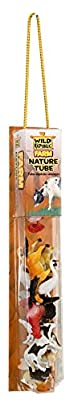 "Wild Republic Farm Figurines Tube, Horse, Cow, Donkey, Duck, Sheep, Chicken, Rooster, Pig, Dog, Cat, Goat, 16 Piece playset, 1.5"" to 3"", Model:12883"