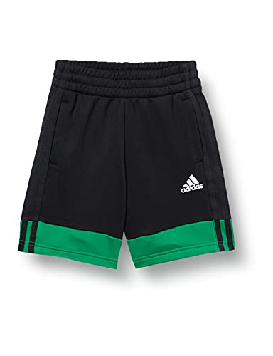 adidas B A.R. 3S Short, Pantalones Cortos Niños, Black/White/Core Green, 6-7A
