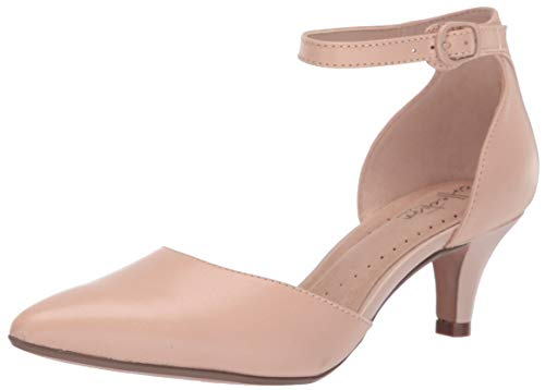 Clarks Women's Linvale Edyth Pump, Nude Leather, 100 M US