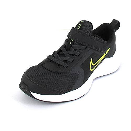 Nike Downshifter 11, Scarpe da Tennis Unisex-Bambini, Dk Smoke Grey/Volt-Black-White, 31.5 EU