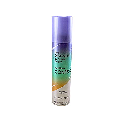 Designer Imposters Fragrance Deodorant Body Spray, Confess, 2.5 oz. by Parfums de Coeur [Beauty]
