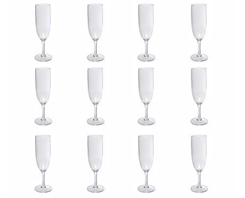 Nordiska Plast – 12 copas de champán, copas de champán de plástico de 170 ml –...