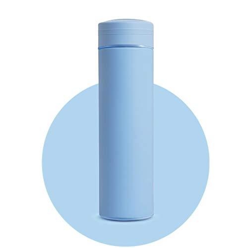 LCYYDECO HDHWZ Frasco de vacío con Filtro Thermos Botella Acero Inoxidable 304 Taza térmica Taza Taza de café Botella de Agua Oficina Hogar Thermo (Capacity : 500ml, Color : Blue)