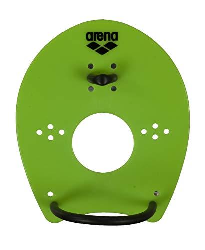 arena Unisex Schwimm Wettkampf Trainingshilfe Hand Paddle Elite für das Techniktraining, grün (Acid Lime-Black), M