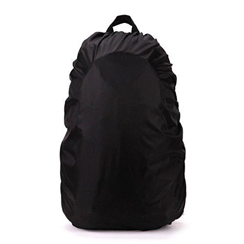 Ndier Sac à Dos imperméable à l'eau pour Les Sacs d'école activités de Plein air Sacs Sacs à Bagages Pluie/poussière Couvercle Noir 35-40 L