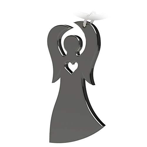 Schlüsselanhänger Schutzengel - Geschenke und Glücksbringer fürs Auto - Autoschlüsselanhänger - kleine Aufmerksamkeit für Frauen, Männer und Reisende - Schlüssel Anhänger Engel in Schwarz
