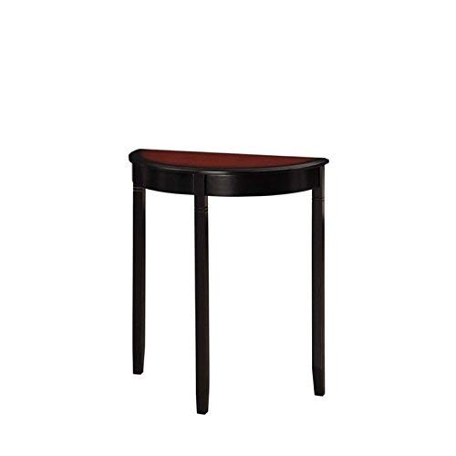 """Linon Camden Demi Lune Console Table, 26"""" w x 13"""" d x 28"""" h, Black Cherry"""