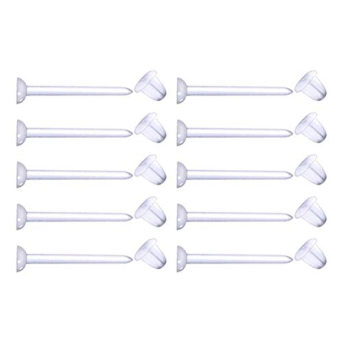 Longita 10-30 Piezas Plástico 20G Piercing Helix Tragus Cartílago Bioflex Flexible Pendientes Transparente Retenendores de Oreja Studs Perno Lóbulo Barra
