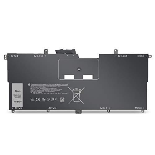 BatteryMon NNF1C HMPFH Battery for Dell XPS 13 9365 Series, XPS 13-9365-D1605TS 13-9365-D1805TS 13-9365-D2805TS 13-9365-D3605TS Laptop (7.6V 46Wh)