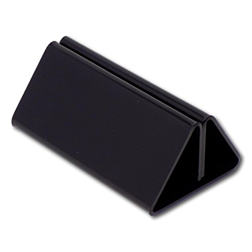 EPOSGEAR 100mm Menu Show Card Acrylic Name Place Table Sign Display Stand Holders - Perfect for Shops, Restaurants, Bars, Weddings, Parties etc (Black, 10 Holders)
