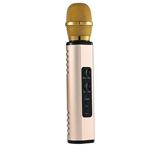 UOEIDOSB Teléfono móvil K Song Micrófono Micrófono inalámbrico Multifunción Altavoz Dual Modo Privado Micrófono Inteligente portátil