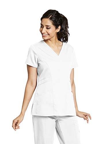 Grey's Anatomy 41452 V-Neck Top White M