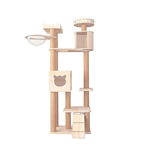 Torre de gato de árbol de gato con postes de rasguños Cat Condo Cat House Activity Tower for gatos Gatitos Actividad Torre Tower Pey Play Casa Muebles Casa Interior Actividad Relajante Multifuncional