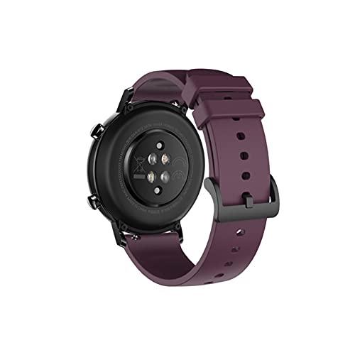 FFF8 Banda de Reloj de Silicona de 20 mm para Huawei Watch GT2 42mm Soft Sport Correa para Samsung Galaxy 42mm Active2 Gear S2 Pulsera de Banda de Reloj (Color : 6)