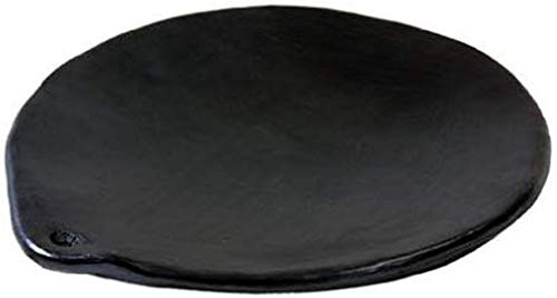 Chamba Black Clay Comal, 12' Small Griddle