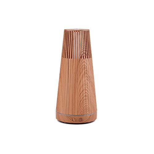 Difusor de aroma Grano de madera Difusor de aceite esencial Mute Design aromaterapia humidificador con 7 LED ciclo de color para dormitorio Yoga