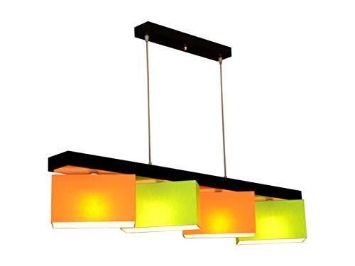 Hängelampe Hängeleuchte Milano M4H MIX Lampe Leuchte 4 flammig verschiedene Varianten (Grün-Orange)