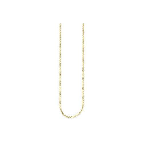 THOMAS SABO Damen-Erbskette 925 Silber teilvergoldet 70 cm - KE1219-413-12-M