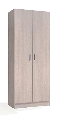 SERMAHOME- Armario Multiusos Auxiliar. Columna 2 Puertas. 4 Baldas Interiores. Color Roble. Medidas: 73 x 180 x 37 cm.