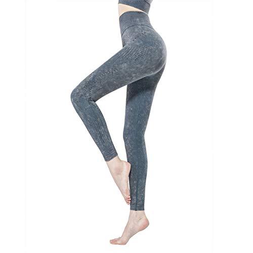 Mujer Yoga Polainas, Cintura Alta Corriendo Medias Extremo Scrunch Push Up Pantalones de Yoga Ajustado Deportes Pantalones (Color : A, Size : X-Large)