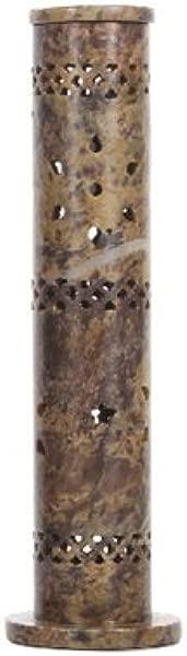 Hosley Aromatherapy 10 75 High Soapstone Tower Incense Holder Ideal For Aromatherapy Zen Spa Vastu Reiki Chakra Settings O4
