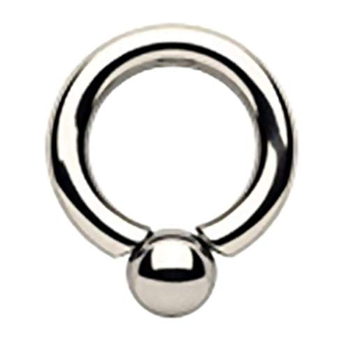 TheChainGang Surgical Steel Screwball Rings, Body Piercing Jewelry (1 Gauge (7mm) - 7/8