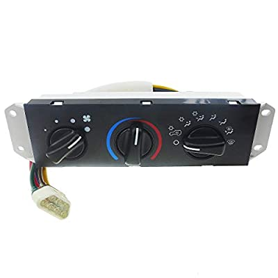 HVAC Climate Control Panel for 99-01 Jeep Wrangler, Air Control Panel for 02-04 Jeep TJ Wrangler Right Hand Drive, Heater Control Panel, Air Conditioning Heater Control Panel, HS-373 55037473AB