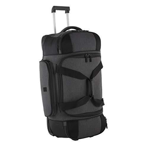 Rada Reisetasche mit Rollen RT/23 85l | große Reisetasche für den Urlaub | mit stabilen Rollen | Ausziehgriff | versteckte Tragegurte | mit praktischen Schultergurten (Anthra schwarz)