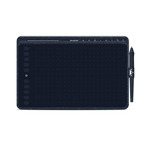 HUIONペンタブレット10.2 × 6.36インチ HS611業界初の音楽のコントロール可能なペンタブ 10個のショートカットキー&タッチバー 携带に接続可能なペンタブレット 色:(ランダム)リバーブルー・コーラルレッド