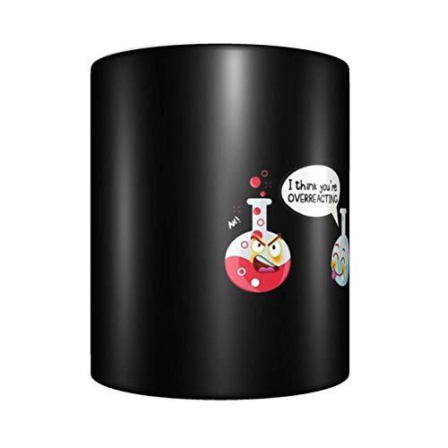 Taza de café con texto en inglés 'I Think You're Overreacting de cerámica, única novedad, taza de té para el hogar y la oficina para los amantes del anime Festival de regalo de cumpleaños
