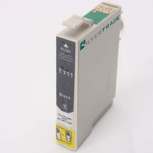 Silvertrade Cartucho de Impresora Compatible como reemplazo de Epson T0711 EPSON BX300F EPSON BX310FN EPSON BX600FW EPSON BX610FW EPSON B40W EPSON D120 EPSON D78 DX4000 DX4400 DX5000 DX6050