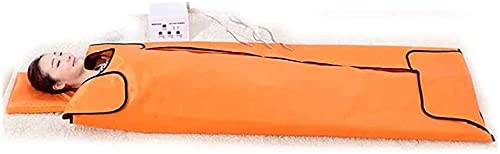 LIOYUHGTFY Sauna Blanket Detox Fitness Machine Heated Sauna Blanket Far Infrared SPA Machine Anti-Aging Beauty Machine 908(Color:Orange)