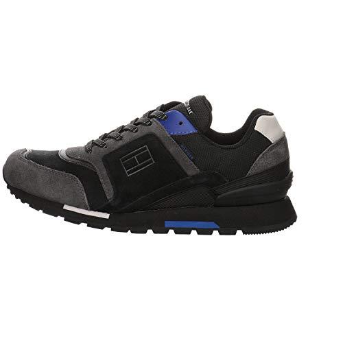 Tommy Hilfiger FM0FM03079 - Zapatillas deportivas de tela y ante para hombre