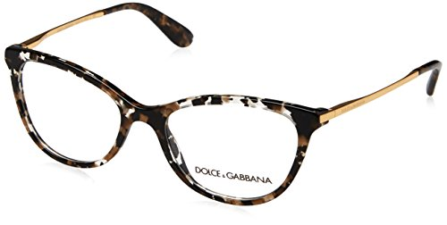 Dolce & Gabbana Dolce & Gabanna DG3258 911 54 Cube Black/gold Woman Butterfly Eyeglasses - Black
