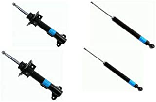 Set of 4 Suspension Shocks Struts Absorbers Front and Rear for Mercedes C-Class W204 S204 C350