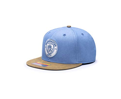 Fan Ink Manchester City Orion Snapback Hat - Blue/Brown, One Size