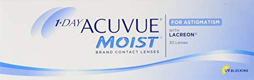 Acuvue 1-Day Acuvue Moist For Astigmatism Tageslinsen weich, 30 Stück/BC 8.5 mm/DIA 14.5 mm/CYL -1.25 / ACHSE 50 / -0.5 Dioptrien