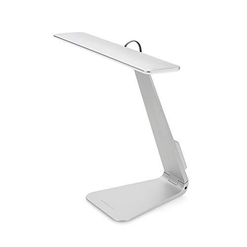 WWWL Lámpara Escritorio Estilo Ultrafino 200LM LED 3 Modo atenuación Interruptor táctil de Lectura lámpara de Mesa lámpara de Escritorio de la luz de la luz de la luz Suave luz de la Noche Silver