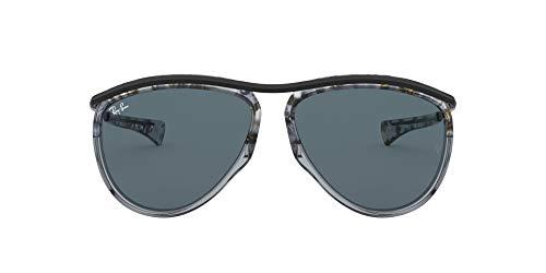 Ray-Ban Aviator Olympian RB2219-1286R5 Gafas, Gris Habana Negro, 59 Unisex Adulto
