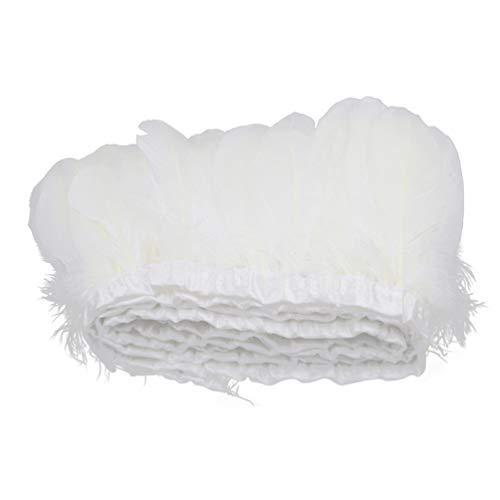 SUPVOX Ruban de Plumes d' oie blanc Plume DIY Arts Crafts Vêtement Bricolage Décoration Mariage