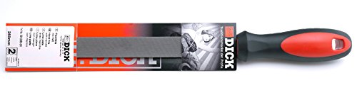 Dick Werkstattfeile 2K 250 mm (Feile für allgemeine Arbeiten, Flachstumpf mit Hieb 2, Stahl, Eisen, NE-Metall) 3312252-2K